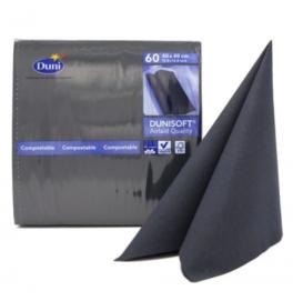 Салфетки бумажные Dunisoft Airlaid, цвет: Чёрный, размер 40 х 40 см, 60 штук