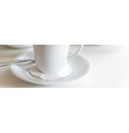 Костер бумажный, диаметр 7.5 см. Цвет: белый; 250 шт