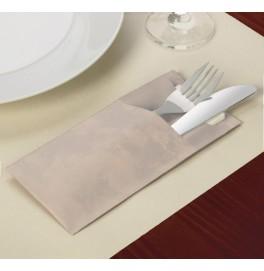 Конверт для столовых приборов sacchetto, 8.5 х 19 см, 100 штук. Цвет: Natural, Cream