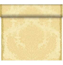 Скатерть – дорожка DUNICEL. Размер: 0,4 х 24 м. Дизайнерская. Цвет: Royal ваниль. 1 штука