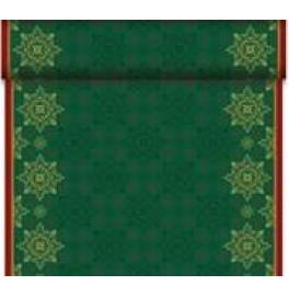 Скатерть – дорожка DUNICEL. Размер: 0,4 х 24 м. Дизайнерская. Цвет: CHRISTMAS DECO GREEN,  1 штука