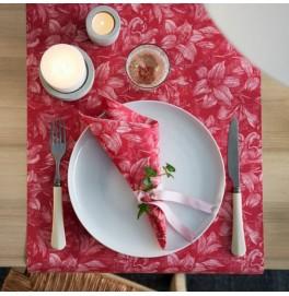 Скатерть – дорожка DUNICEL дизайнерская. Размер: 0,4 х 4.8 м. Цвет: FIRENZE PINK. 1 штука