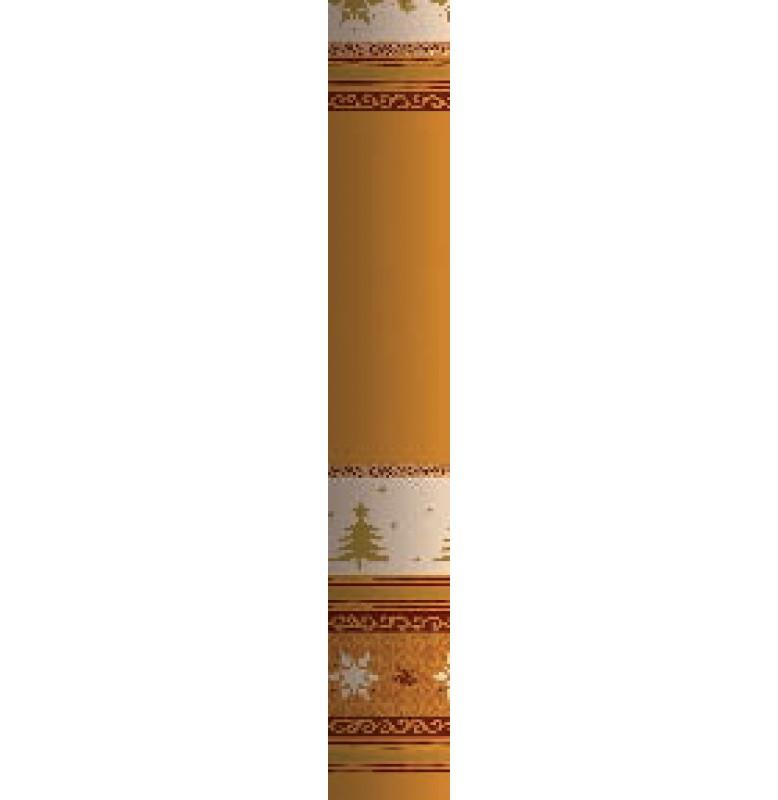 Скатерть DUNICEL 1,20 х 25 м банкетная в рулонах. Цвет: ЗОЛОТЫЕ ЁЛКИ. 1 штука