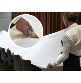 Скатерть DUNICEL 1,18 х 25 м банкетная в рулонах. Цвет: белый