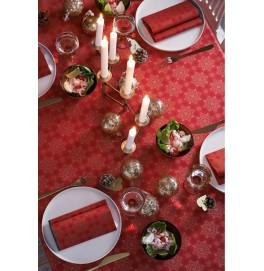 Скатерть DUNICEL 138 х 220 см, дизайнерская. Цвет: CHRISTMAS DECO RED. 1 штука