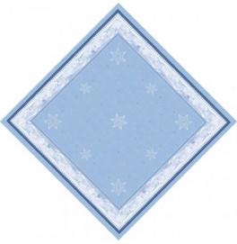 Скатерть (наперон) DUNICEL 84 х 84 см, дизайнерские. Цвет: SNOWLAND. 1 штука