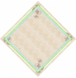 Скатерть (наперон) DUNICEL 84 х 84 см, дизайнерские. Цвет: ZENDO GREEN. 1 штука
