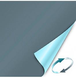 Скатерть (наперон) DUNICEL 84 см х 84 см, однотонные. Цвет: серо-синий/голубой (двухсторонняя). 1 штука