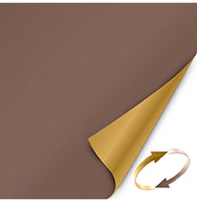 Скатерть (наперон) DUNICEL 84 см х 84 см, однотонные. Цвет: кофе/мед (двухсторонняя). 1 штука