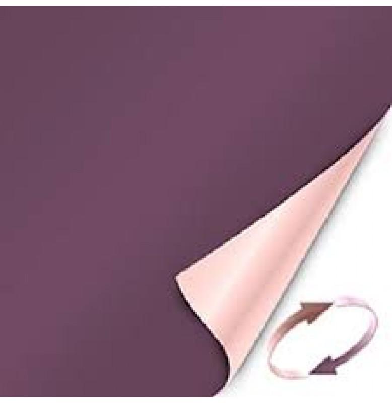 Скатерть (наперон) DUNICEL 84 см х 84 см, однотонные. Цвет: слива/нежно-лиловый (двухсторонняя). 1 штука