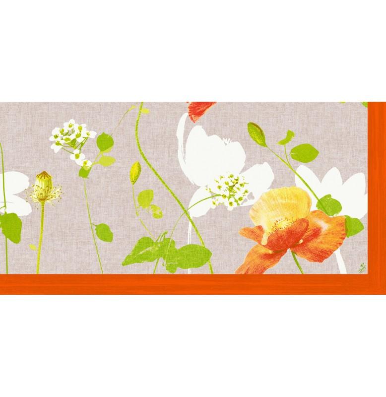 Скатерть (наперон) 84 см х 84 см, дизайнерские с водостойким покрытием. Цвет: POPPY. 1 штука