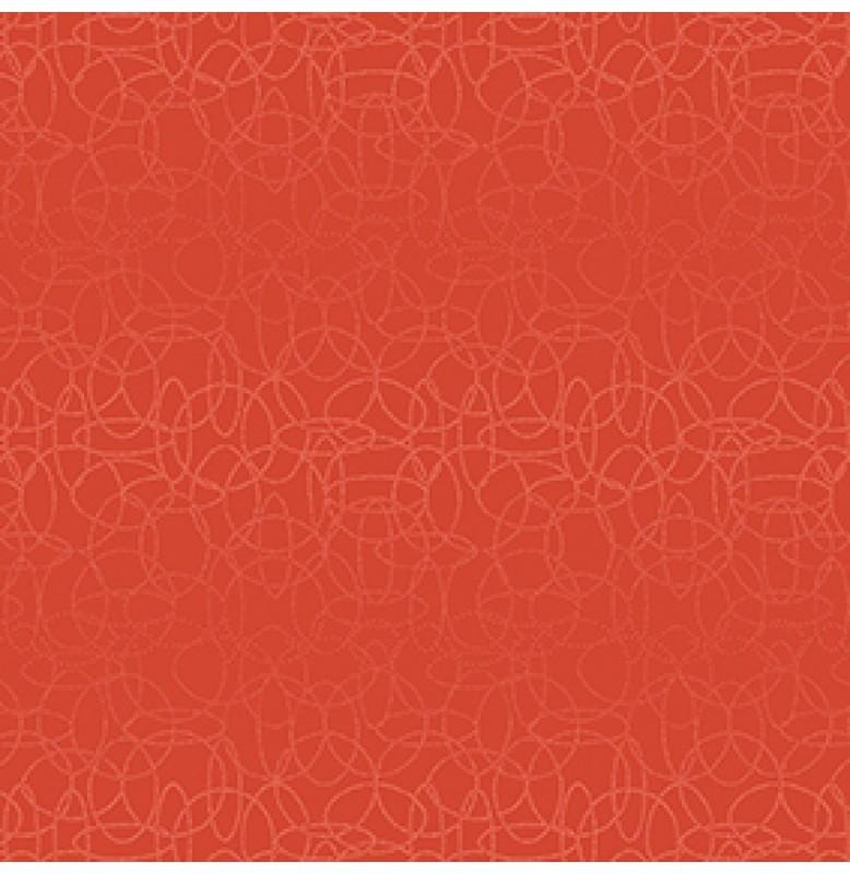 Скатерть (наперон) 84 см х 84 см, дизайнерские с водостойким покрытием. Цвет: CIRCUTIS MANDARIN. 1 штука
