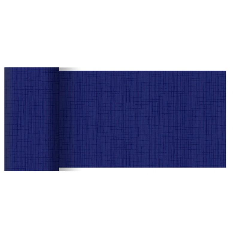 Скатерть (наперон) 84 см х 84 см, дизайнерские с водостойким покрытием. Цвет: LINNEA DARK BLUE. 1 штука