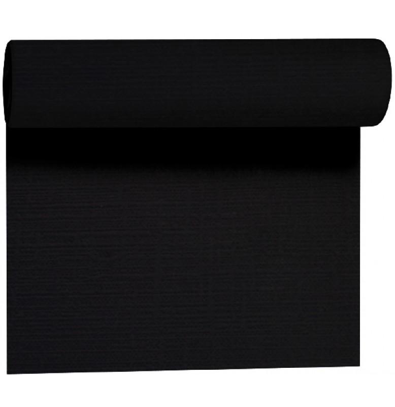 Скатерть – дорожка EVOLIN. Размер: 0,4 х 24 м. Однотонная цветная. Цвет: Чёрный. 1 штука