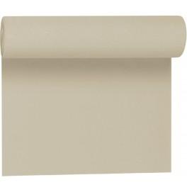 Скатерть – дорожка DUNICEL. Размер: 0,4 х 4.8 м. Однотонная цветная. Цвет: Серо-бежевый. 1 штука