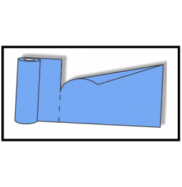 Скатерть – дорожка DUNICEL. Размер: 0,4 х 24 м. Однотонная цветная. Цвет: серо-синий/голубой (двухсторонняя). 1 штука