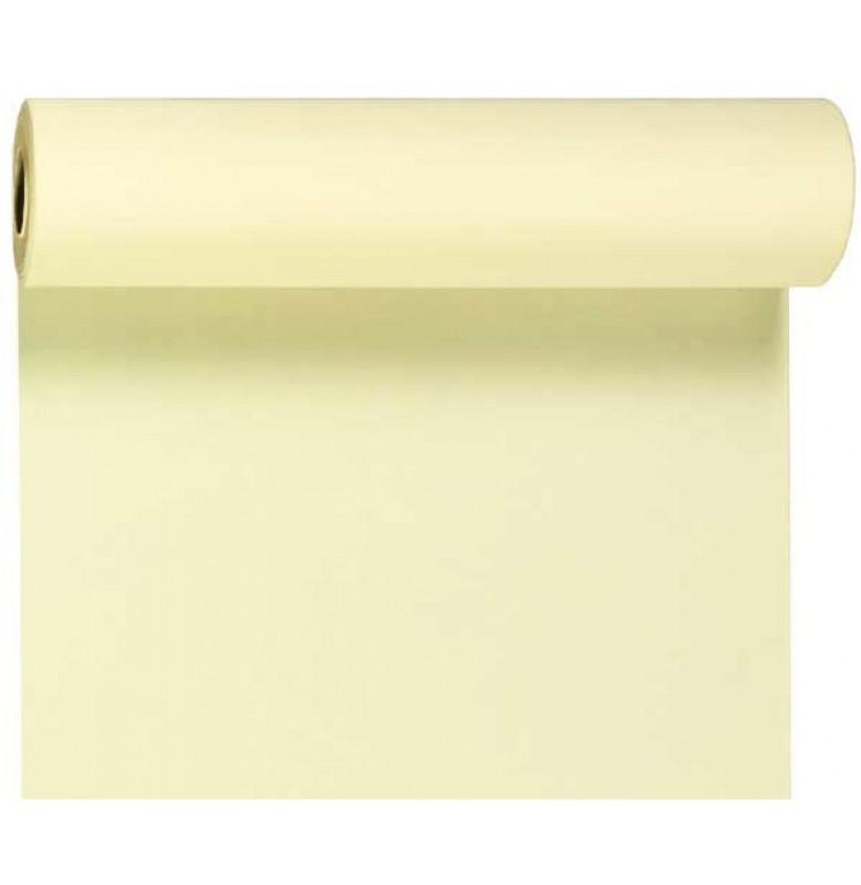Скатерть – дорожка DUNICEL. Размер: 0,4 х 24 м. Однотонная цветная. Цвет: Ваниль, 1 штука