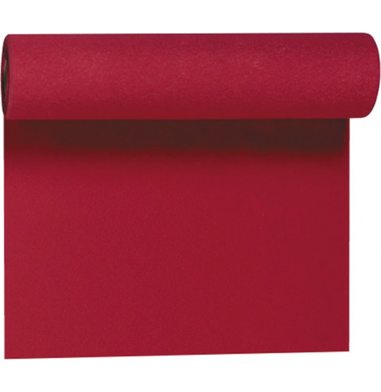 Скатерть – дорожка DUNICEL. Размер: 0,4 х 4.8 м. Однотонная цветная. Цвет: Бордо. 1 штука