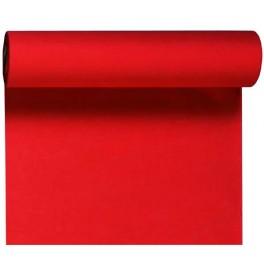 Скатерть – дорожка DUNICEL. Размер: 0,4 х 24 м. Однотонная цветная. Цвет: Красный. 1 штука