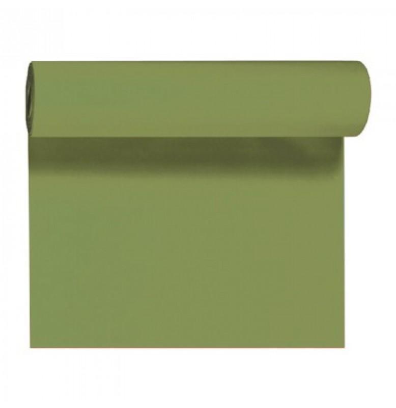 Скатерть – дорожка DUNICEL. Размер: 0,4 х 24 м. Однотонная цветная. Цвет: Пальмовый. 1 штука