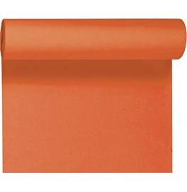 Скатерть – дорожка DUNICEL. Размер: 0,4 х 4.8 м. Однотонная цветная. Цвет: Мандарин. 1 штука