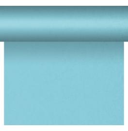 Скатерть – дорожка DUNICEL. Размер: 0,4 х 4.8 м. Однотонная цветная. Цвет: Голубой. 1 штука