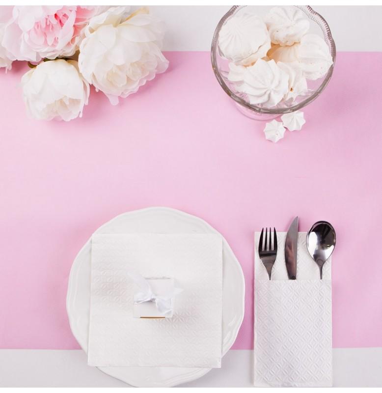 Скатерть – дорожка DUNICEL. Размер: 0,4 х 4.8 м. Однотонная цветная. Цвет: Розовый. 1 штука