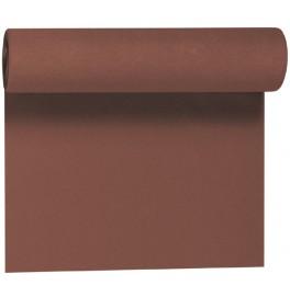 Скатерть – дорожка DUNICEL. Размер: 0,4 х 24 м. Однотонная цветная. Цвет: Кофе. 1 штука