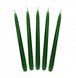 Свеча Aнтичная 250х22 мм. Цвет: темно-зеленый; 1 шт