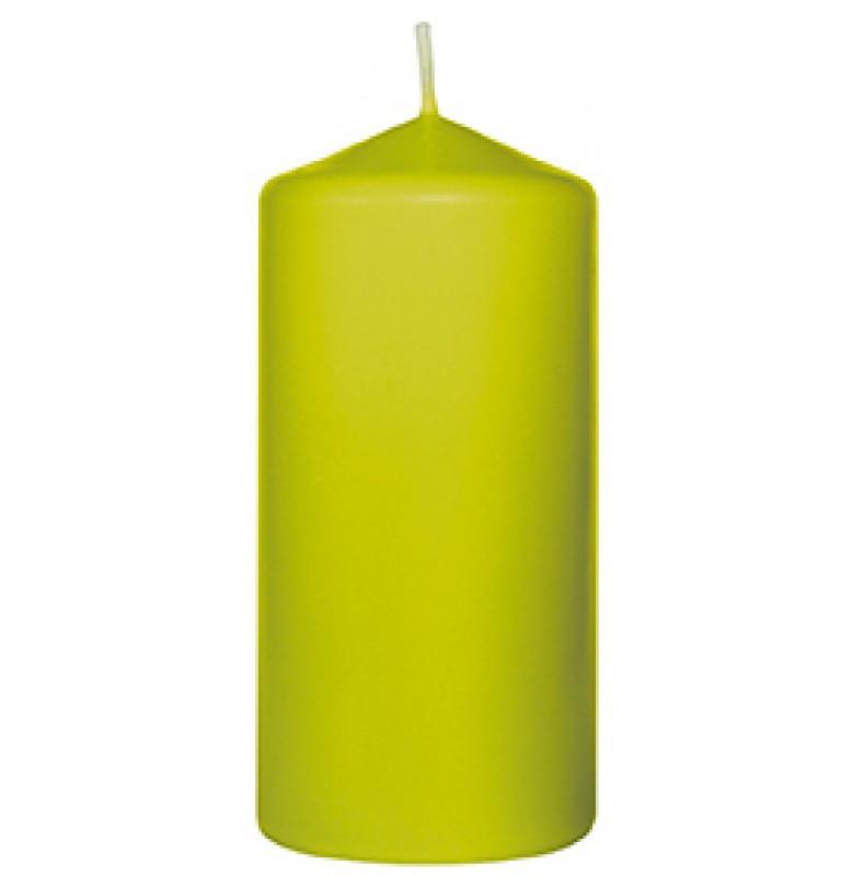Свеча PILLAR 100х50 мм. Цвет: киви; 1 шт