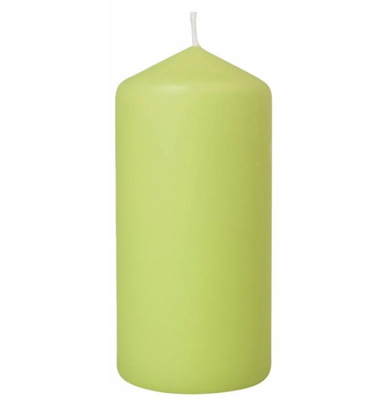 Свеча PILLAR 100х60 мм. Цвет: матовая киви; 1 шт