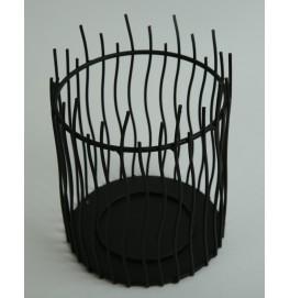 Подсвечник черный, металл, ASTELLA