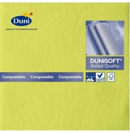 Салфетки бумажные Dunisoft Airlaid, цвет: киви, размер 40 х 40 см, 12 шт
