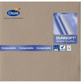 Салфетки бумажные Dunisoft Airlaid, цвет: серо-бежевый, размер 40 х 40 см, 12 шт