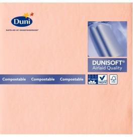 Салфетки бумажные Dunisoft Airlaid, цвет: розовый, размер 40 х 40 см, 12 шт