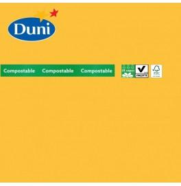 Салфетки бумажные Dunilin, цвет: Жёлтый, размер 40 х 40 см, 12 штук