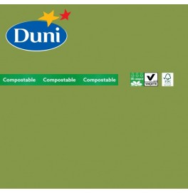 Салфетки бумажные Dunisoft Airlaid, цвет: зеленый травяной, размер 40 х 40 см, 12 шт
