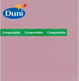 Салфетки бумажные Dunilin, цвет: нежно-лиловый, размер 40 х 40 см, 12 штук