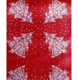 Скатерть – дорожка бумажная дизайнерская. Размер: 0,4 х 4.8 м. Цвет: Елки. 1 штука