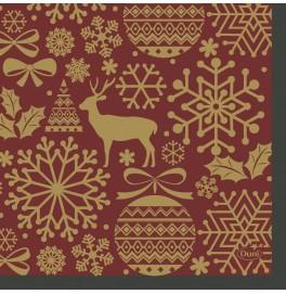 Салфетки 3-слойные, бумажные Duni Tissue, дизайнерские. Цвет: DIVINE, размер 24 х 24 см, 20 штук