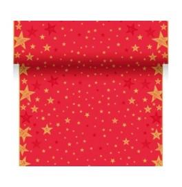 Скатерть – дорожка DUNICEL дизайнерская. Размер: 0,4 х 4.8 м. Цвет: SHINING STAR RED, 1 штука