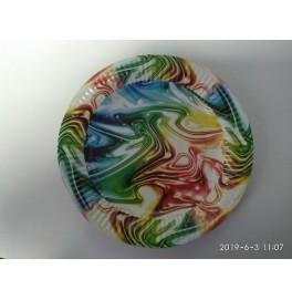 Тарелка бумажная круглая. Диаметр: 23 см. Цветная