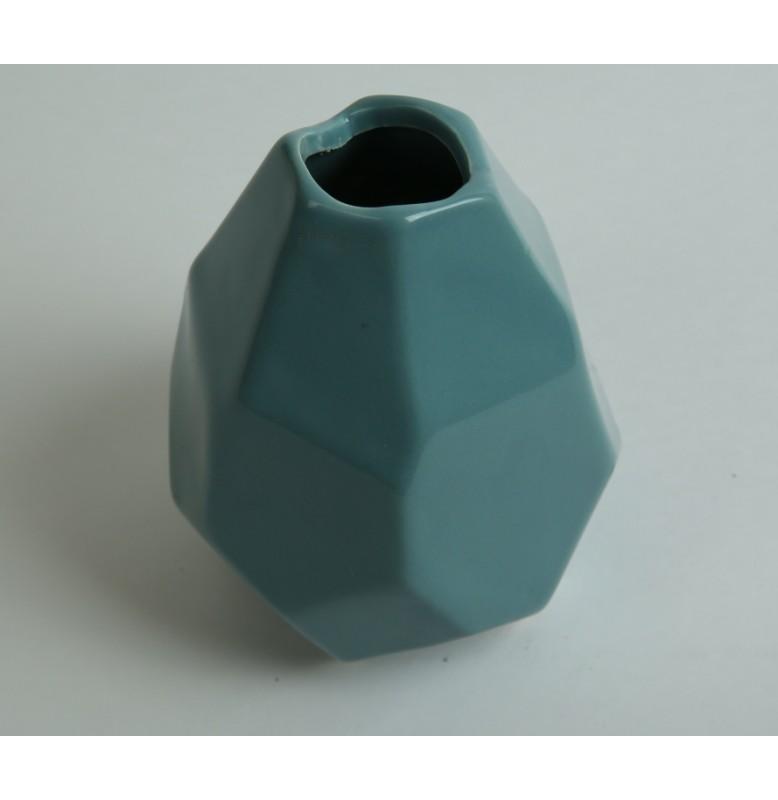 Ваза керамическая. Цвет: голубой