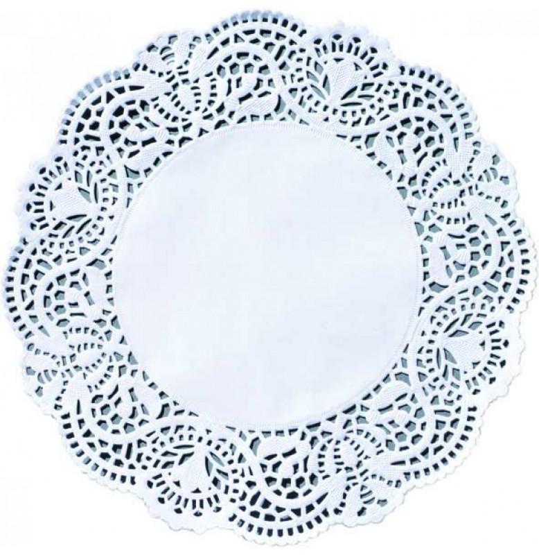 Кружевные салфетки Doilies, D12 см, круглые, Цвет: белый; 250 шт