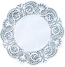 Кружевные салфетки Doilies, D15 см, круглые, Цвет: белый; 250 шт