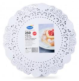 Кружевные салфетки Doilies, D25 см, круглые, Цвет: белый; 250 шт