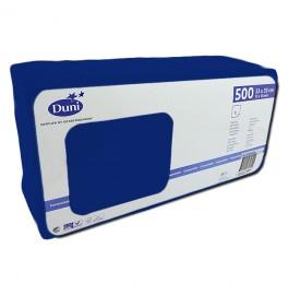 Салфетки 1-слойные, бумажные Duni Tissue, цвет: Тёмно-синий, размер 33 х 33 см, 500 штук