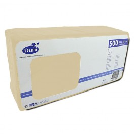 Салфетки 1-слойные, бумажные Duni Tissue, цвет: Ваниль, размер 33 х 33 см, 500 штук Акция!
