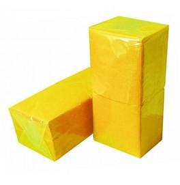 Салфетки 1-слойные, бумажные Duni Tissue, цвет: Жёлтый, размер 33 х 33 см, 500 штук