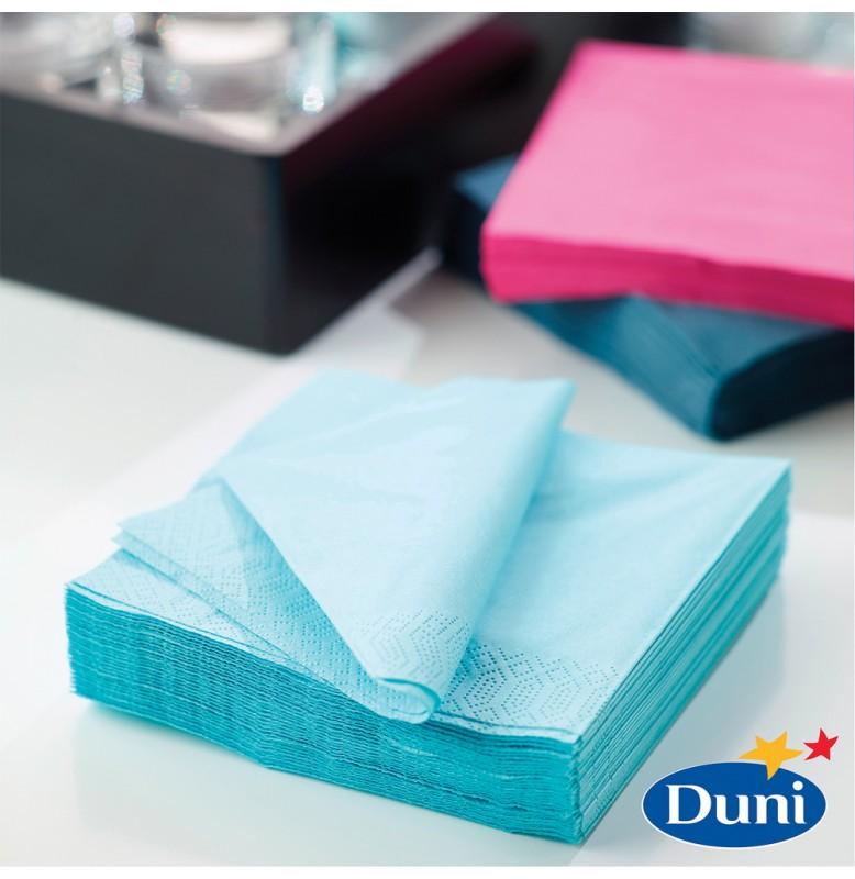 Салфетки 3-слойные, бумажные Duni Tissue, цвет: Голубой/мятный, размер 33 х 33 см, 20 штук